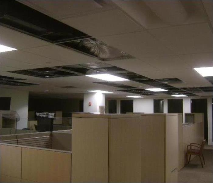 Commercial Water Damage - North Kenner Offices Before