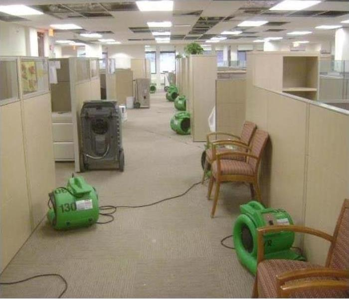 Commercial Water Damage - North Kenner Offices After