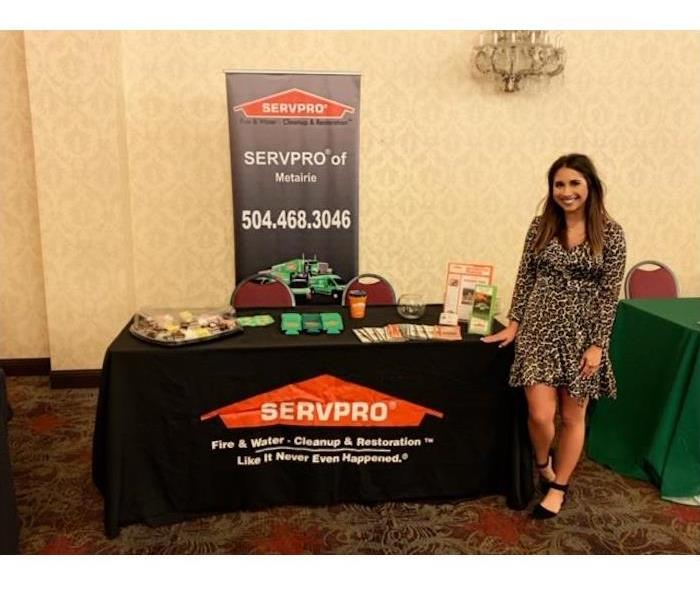 Marketing Representative Shelby Clement at the Apartment Association Of Greater New Orleans Trade Show